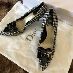 Christian Dior Gingham w/ patent leather heels